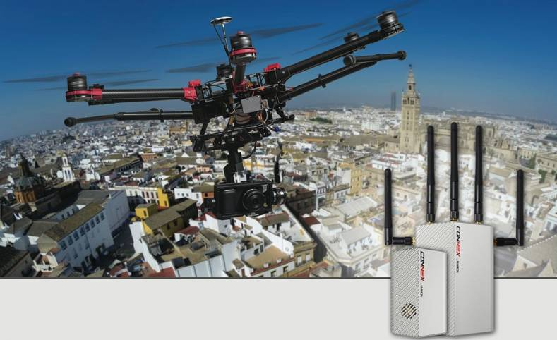 CONNEX by AMIMON is an innovative Wireless HD link for professional UAV drone applications.