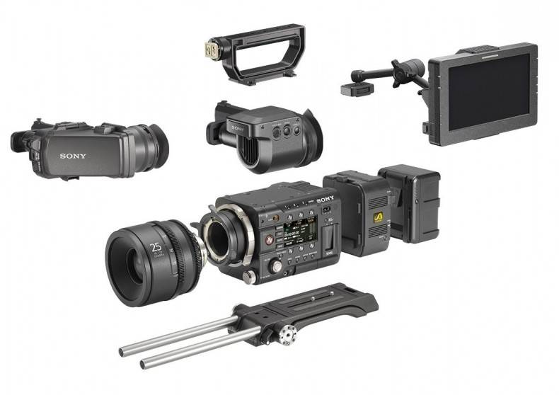 The Sony F55 can be configured to suite the requirements of the operator for a specific shot.