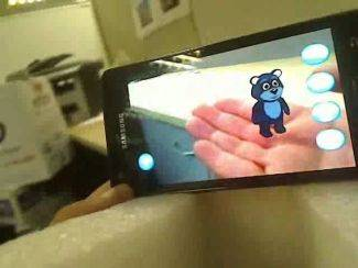Augmented reality displayed on a smart phone. Image By Okseduard