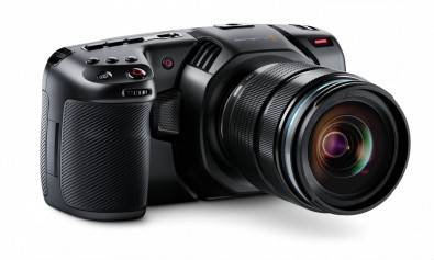 The Blackmagic Pocket Cinema Camera could easily be mistaken for a consumer MILC with it's familiar shape.