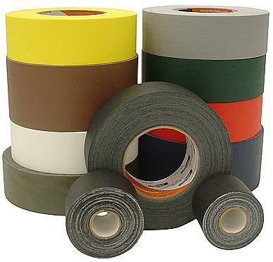 Do not confuse Gaffer's tape with the more common Duct tape. Duct tape is targeted at permanent applications and leaves a sticky residue when removed.