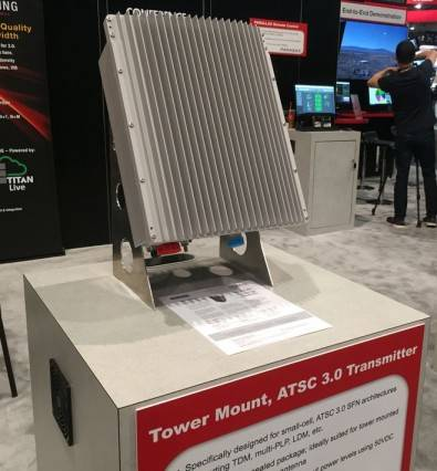 Comark's new TV tower-mounted ATSC 3.0 transmitter doesn't need an air-conditioned transmitter building.