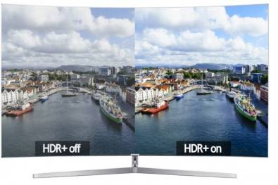 The benefit of HDR is apparent to even the most unsophisticated viewer. Many current HDR TVs can only display 10 - 11 stops of dynamic range so some clipping of highlights may still be evident in the latest generation sets. Image courtesy of Samsung. Click to enlarge.