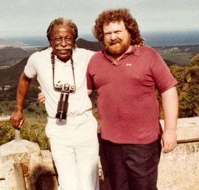 Gordon Parks and Frank Beacham in Hawaii.