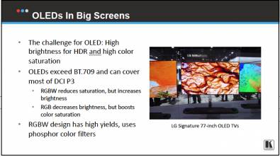 "Many professionals are using Ultra HD OLED TVs to preview client work and the image is ""good enough"" for many applications. Click to enlarge. Image: Kramer"
