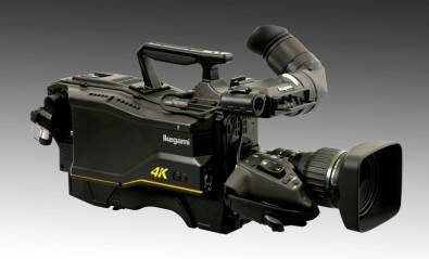The Ikegami UHK-430 4K UHD camera features three 2/3-inch 4K (3840x2160) CMOS sensors with RGB prism optics and can capture both UHD and HD images.