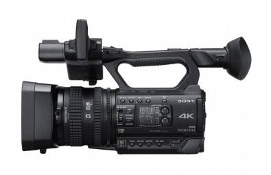 The Sony PXW-Z150 XDCAM features a single Exmor RS sensor with a UHD 4K (3840 x 2160) resolution, Sony G lens with 12x optical zoom range, and 18/24x Clear Image Zoom in 4K/HD.