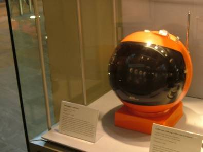 The Videosphere TV made by JVC in the form of a space helmet made quite a splash when it came out in the 1970s. Click to enlarge.