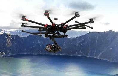 Drones are well-equiped to record video of locations difficult or dangerous to access.