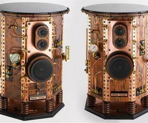 Empire Steam Steampunk speakers. When it comes to speaker design, practically anything goes in the search for perfection. And for many audiophiles, looks can be just as important as sound and cost is no object. The list price of these speakers is ,600. Image: Empire Steam.