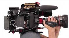 Figure 2: Canon C300 Mk2 in a shoulder-cam configuration.