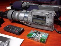 Figure 3: The Sony VX3 3CCD Hi8 Camcorder was an early popular video capture tool. Click to enlarge.