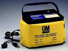 A battery blanket can help keep batteries warmer and power supplies running longer.