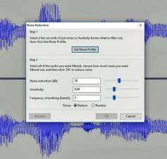 Audacity interface. Click to enlarge.