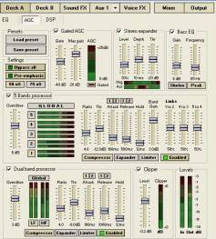Software-based audio processing often comes in the form of plug-ins. When combined they offer a tremendous range of options for audio control and adjustment. Click to enlarge.