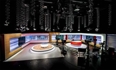 The newly HD-equipped production studio at TV2 FYN-DENMARK in Odense