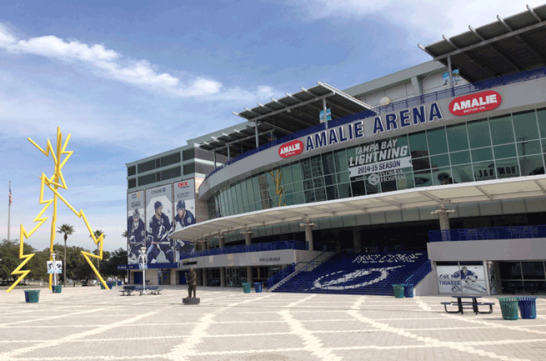 Amalie Arena recently installed a new production control room and Tightrope Media Systems' ZEPLAY slo-mo instant replay system.
