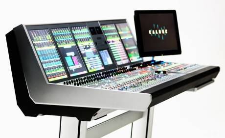 The 64-fader Calrec Artemis Beam console now on board GTX-18 uses Calrec