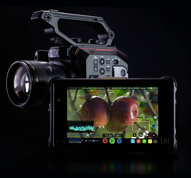 Panasonic EVA1 and Atomos Inferno support Apple's new ProRes RAW efficient recording format.