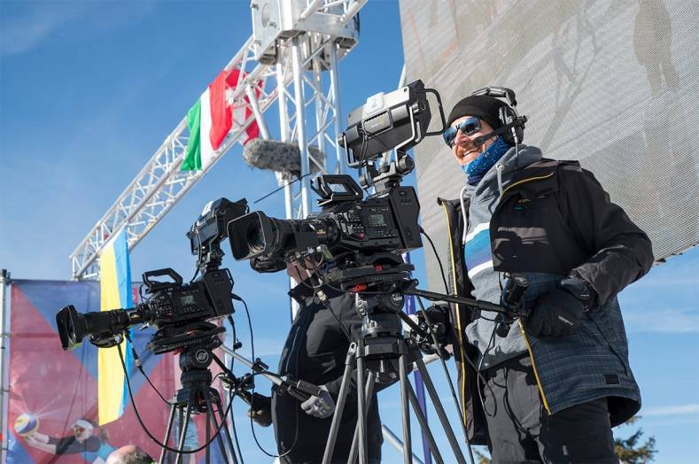 Mediahaus used Blackmagic URSA Broadcastcameras for Snow Volleyball finals.