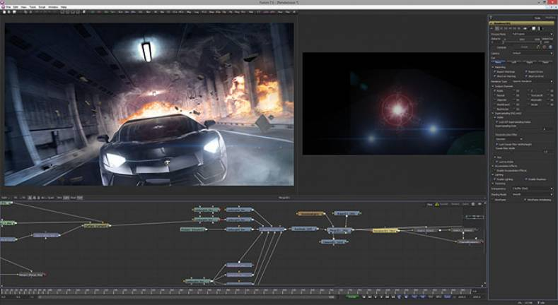 Blackmagic Design Develops Fusion 8 Vfx Software For Mac Os X And Linux The Broadcast Bridge Connecting It To Broadcast