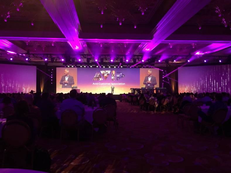 The Avid Connect gathering of the Avid Customer Association filled the Lafite Ballroom in the Wynn Hotel this year.