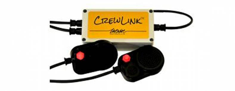 The CrewLink intercom and app converts an iPhone to a wireless production communications system.