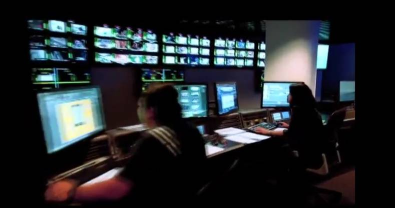 Encompass Asia broadcast control room.