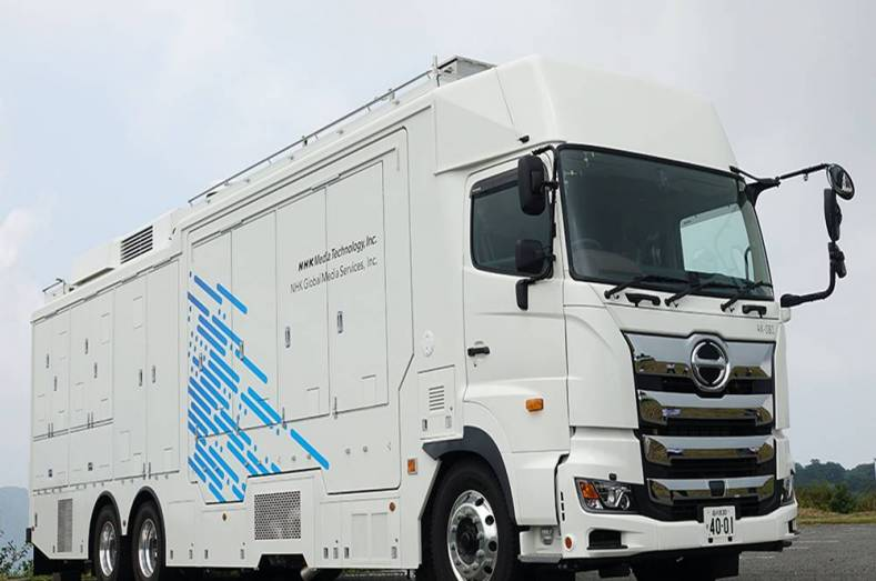 NHK's new 4K-OB1 mobile production truck.