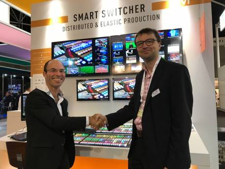 EVS and SiA shook hands on the deal at IBC.