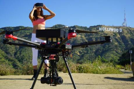 Flying Eye works with a DJI Matrice 600 Series commercial UAV.