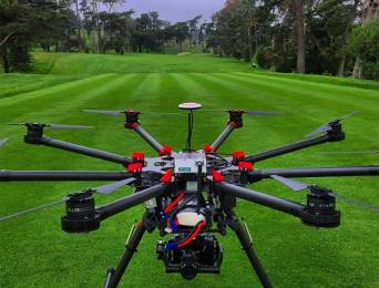 Fox Sports used a drone for the broadcast of the US Open golf tournament.