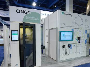 The Fraunhofer Institute for Integrated Circuits IIS began hosting demos of Cingo at various trade shows in 2014.
