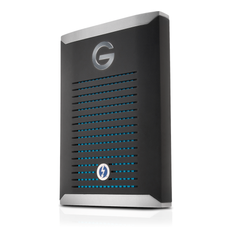 With transfer rates running at 2800MB/s - the new G-DRIVE mobile Pro SSD.