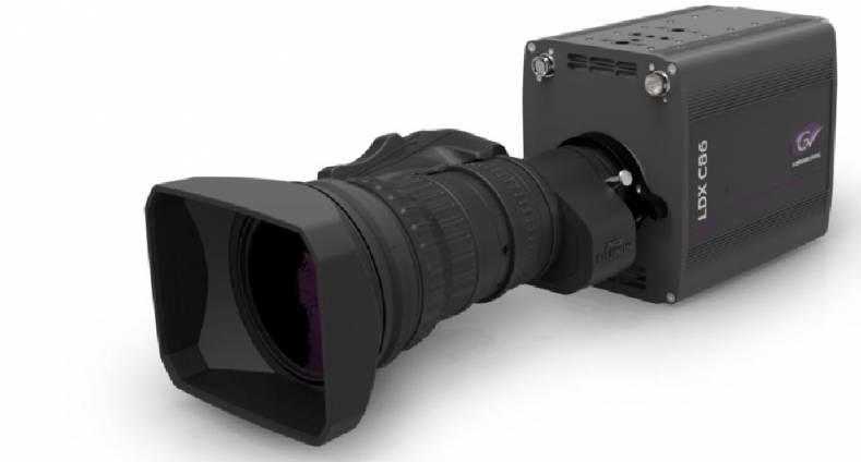 The Grass Valley LDX-C86 compact camera.