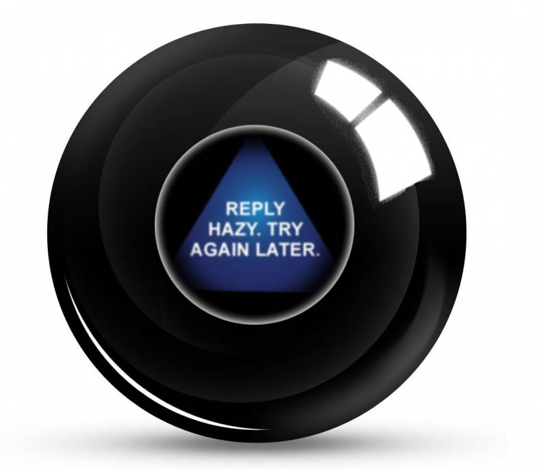 "When shaken and asked, Magic 8 Ball is unsure of changes looming for the internet. Note: It didn't say ""None."""