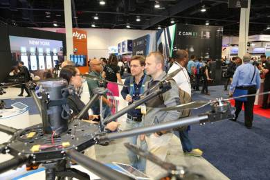 Drone technology remained a hit with NAB 2016 attendees.