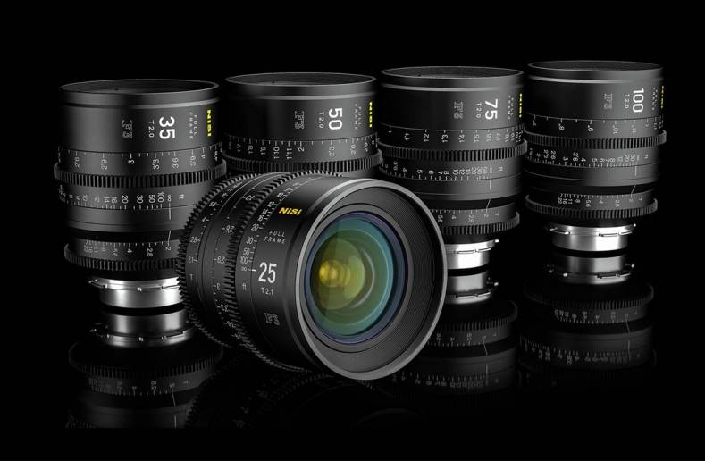 Cine and phot filter manaufacturer NiSi launches family of full frame cine lenses.