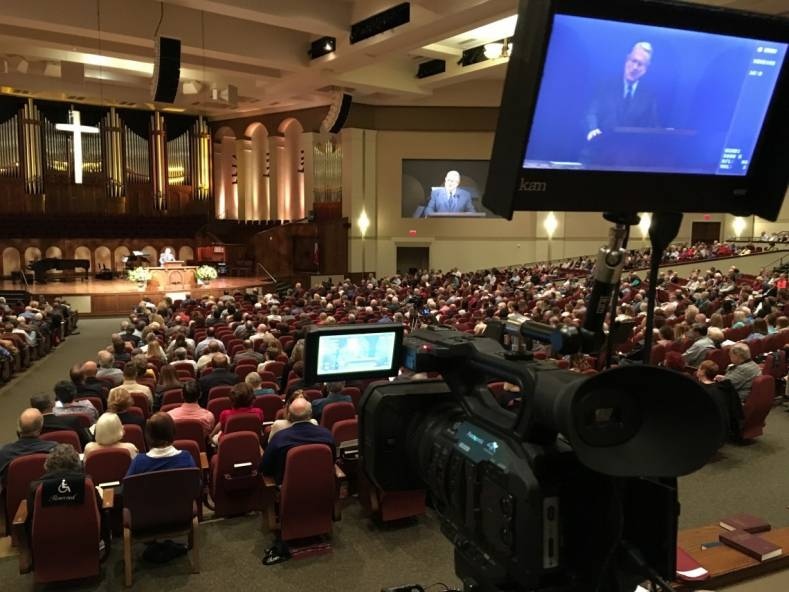 The Panasonic UX180 camera in action at Stonebriar Community Church.