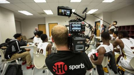 Shooting the Bob Hurley documentary for Showtime with Panasonic Varicam LT.