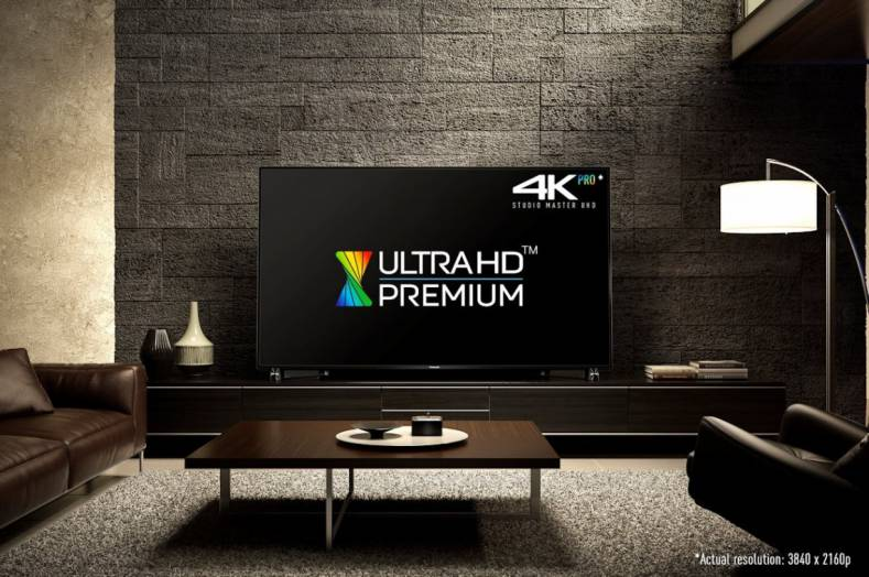 Because this Panasonic DX900 television has the Ultra HD Premium logo, consumers are assured it meets certain specifications.