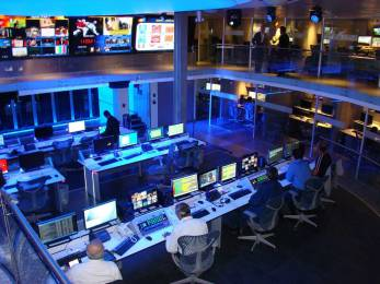 Newsroom at Televisa in Mexico