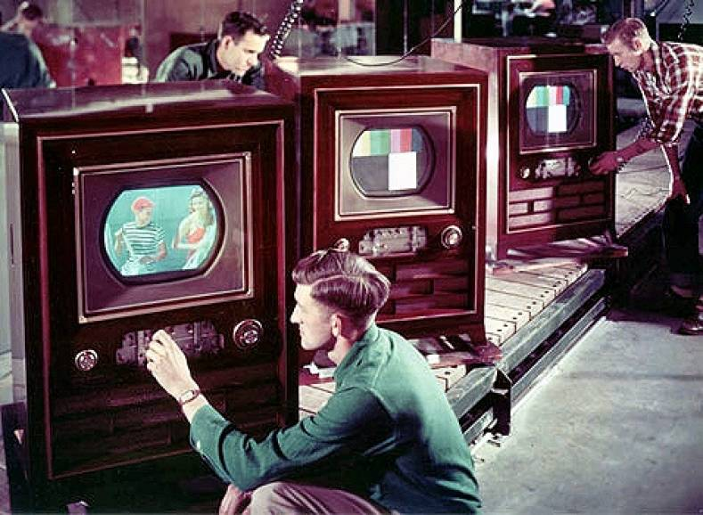 RCA CT-100 TV Assembly Line, 1954.