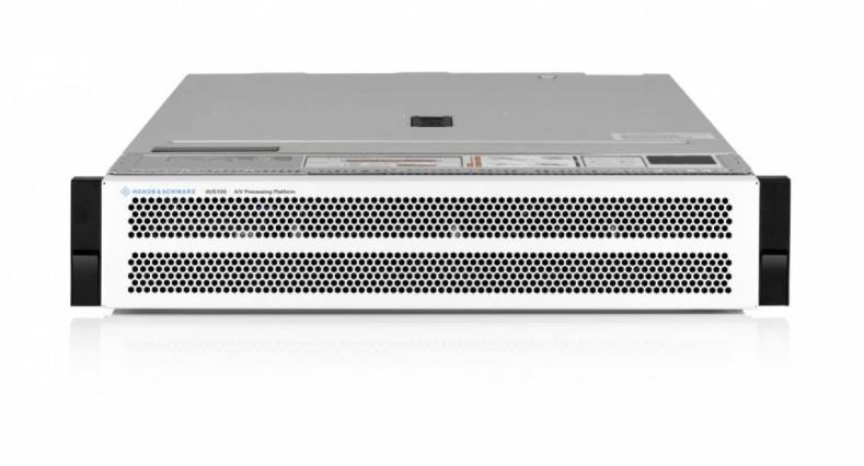 The R&S AVHE100 handles the central signal processing as well as encoding and multiplexing for the new DVB-T2 network.
