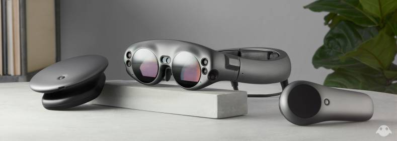 The Magic Leap One mixed reality headset.