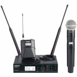 Shure ULX-D digital wireless mic package, now with VHF capacity.