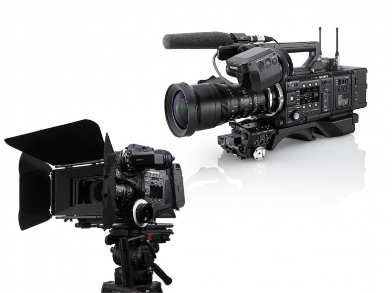 Sony's CineAlta linup to be extended with full-frame camera (F55 & F65 shown).