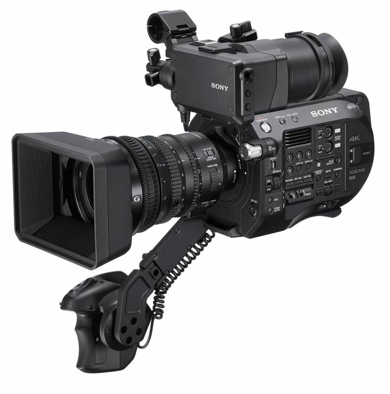 The FS7 II in the configuration popular with documentary shooters.