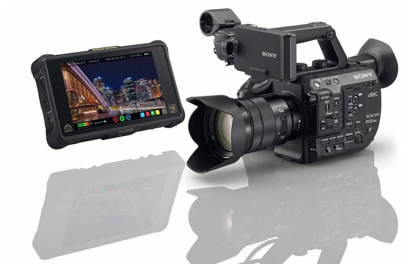 Sony FS5 II interchangeable lens, super 35 camcorder shoot 4K to 120 fps.