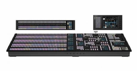 The Sony ICP X7000 switcher panel provides familiar layout for operators.